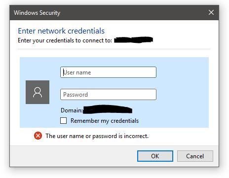 SMB authentication