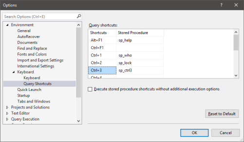 SSMS Query Shortcuts